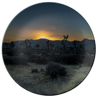 Sunrise Joshua Tree National Park Plate