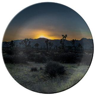 Sunrise Joshua Tree National Park Porcelain Plate