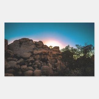 Sunrise Joshua Tree National Park Rectangular Sticker