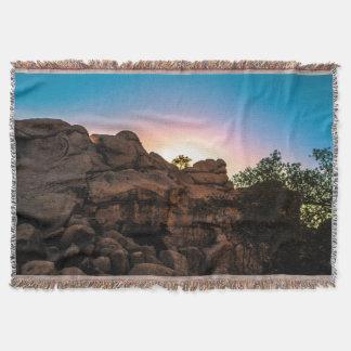 Sunrise Joshua Tree National Park Throw Blanket