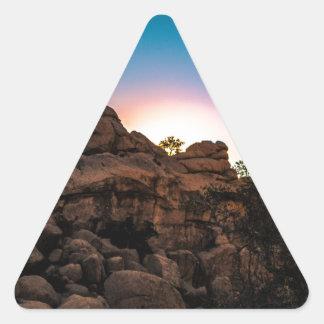 Sunrise Joshua Tree National Park Triangle Sticker