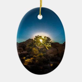Sunrise Joshua TreeNational Park Ceramic Ornament
