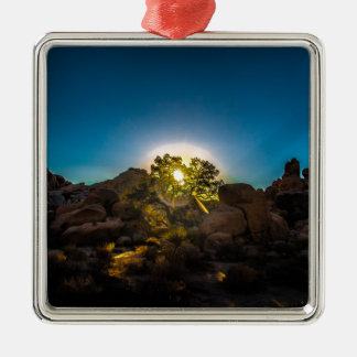 Sunrise Joshua TreeNational Park Metal Ornament