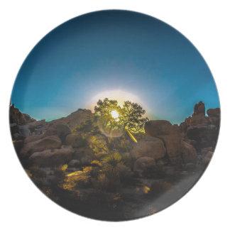 Sunrise Joshua TreeNational Park Party Plate