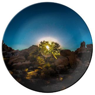 Sunrise Joshua TreeNational Park Porcelain Plates