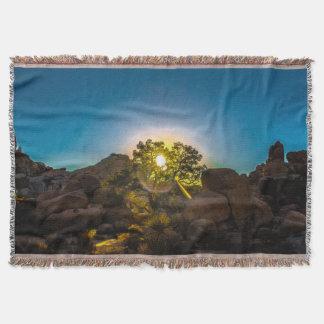 Sunrise Joshua TreeNational Park Throw Blanket