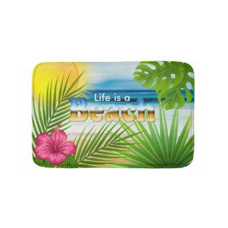 Sunrise Life is a Beach Design Bath Mat