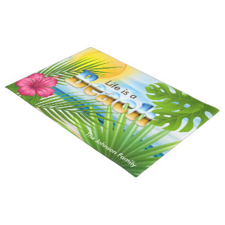 Sunrise Life is a Beach Tropical Design Doormat