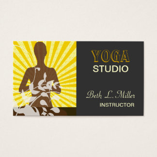 Sunrise Meditation Yoga Pilates Custom Fitness Business Card