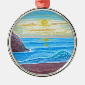 sunrise metal ornament