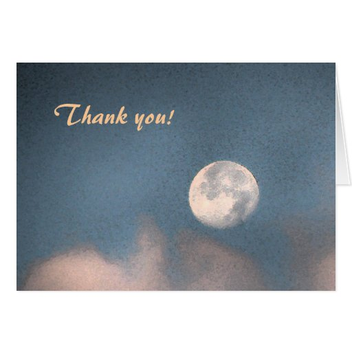 Sunrise Moon Thank You Cards