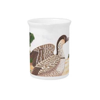 Sunrise Nene (Hawaiian Goose) Beverage Pitchers