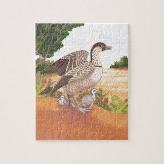 Sunrise Nene (Hawaiian Goose) Jigsaw Puzzle