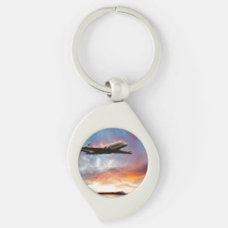Sunrise Nimrod Silver-Colored Swirl Key Ring