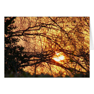 Sunrise notelet card