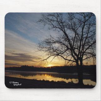 Sunrise Oak Tree Lake Mousepad