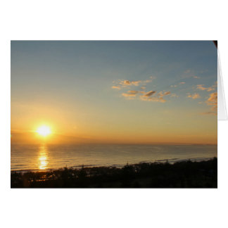 Sunrise on Broad Beach Card