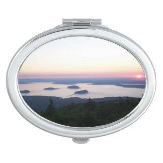 Sunrise on Cadillac Mountain Compact Makeup Mirrors