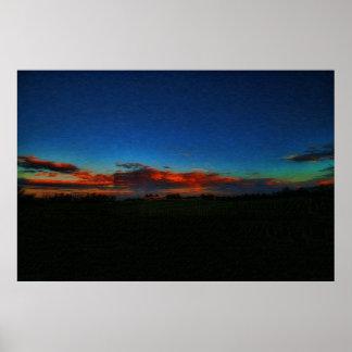 """Sunrise on Chateau Elan Winery"" Poster"