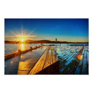 Sunrise on Lake Poster