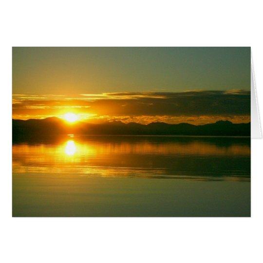Sunrise on Lake Yellowstone (blank inside) Card