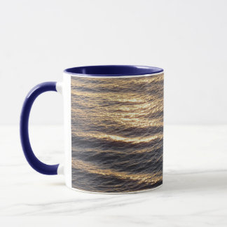 Sunrise on Ocean Waters Blue Abstract Photography Mug
