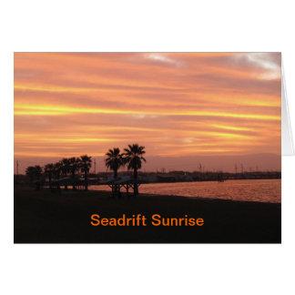 Sunrise on San Antonio Bay card