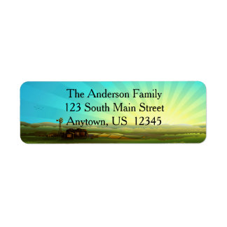 Sunrise on the Farm Return Address Label
