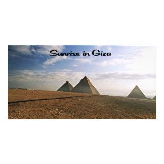 Sunrise on the Giza Plain Photo Card Template