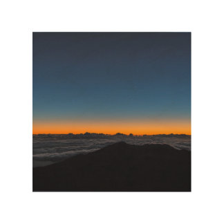 Sunrise on the horizon at Mt. Haleakala Wood Canvases