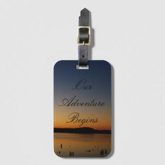 Sunrise on the Lake Adventure Luggage Tag