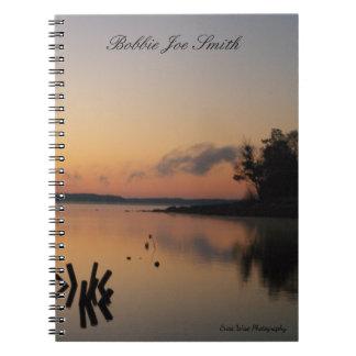Sunrise On The Lake Notebook