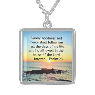 SUNRISE ON THE OCEAN 23RD PSALM PHOTO STERLING SILVER NECKLACE