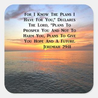 SUNRISE ON THE OCEAN PHILIPPIANS 4:13 SCRIPTURE SQUARE STICKER