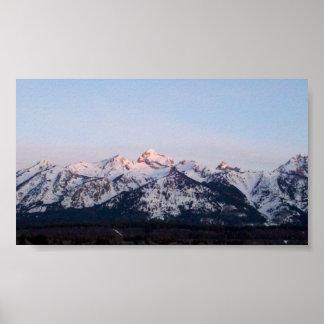 Sunrise on the Tetons Poster