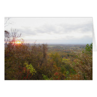 Sunrise On The Valley Personalized Greeting Card