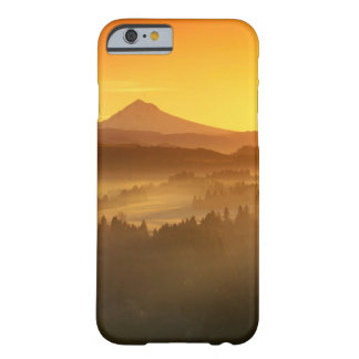 Sunrise orange colours the fog in the valley in barely there iPhone 6 case