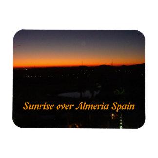Sunrise over Almeria Spain Rectangular Photo Magnet