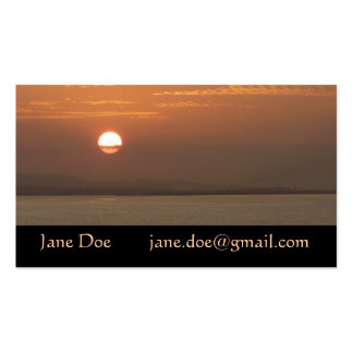 Sunrise over Aruba I Caribbean Seascape Pack Of Standard Business Cards