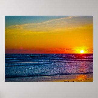 Sunrise Over Atlantic Ocean & Water Reflection III Poster