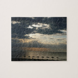 Sunrise over beach in Greece photography Jigsaw Puzzle