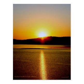 Sunrise Over Beaver Lake Arkansas Postcard