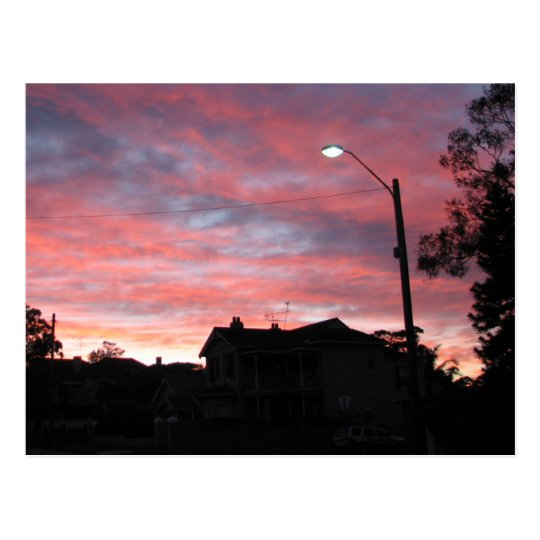 Sunrise over Centennial Park, Sydney Postcard
