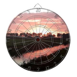 Sunrise Over Farmland Dartboard