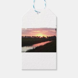 Sunrise Over Farmland Gift Tags