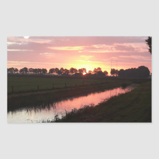 Sunrise Over Farmland Sticker
