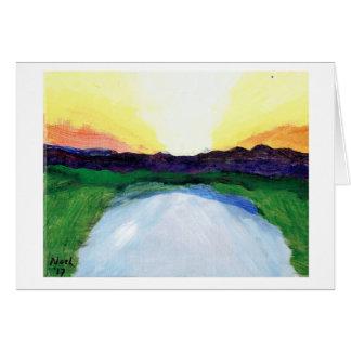 Sunrise Over Lake blank card