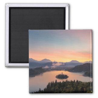 Sunrise over Lake Bled magnet