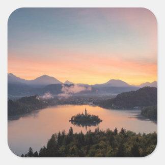 Sunrise over Lake Bled sticker
