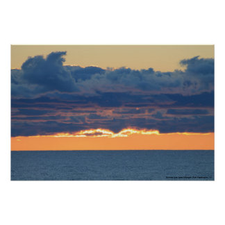 Sunrise over Lake Michigan, Port Washington Wi. Poster